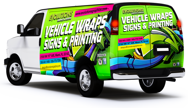 car wrap in florida, car wrap graphic installation, Ford Transit Connect Van full wraps, vehicle graphics and signs, evolutions graphics miami