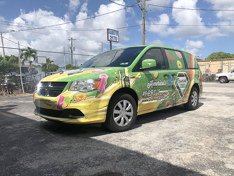commercial wraps miami, fleet wraps, Dodge Van Full Wrap