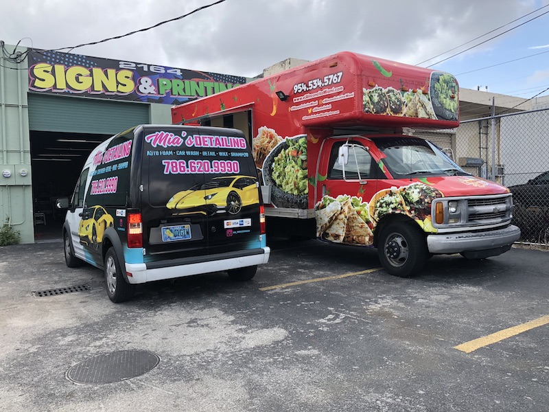 Food Truck Full Wrap, Arlon SLX, Vehicle wrapping