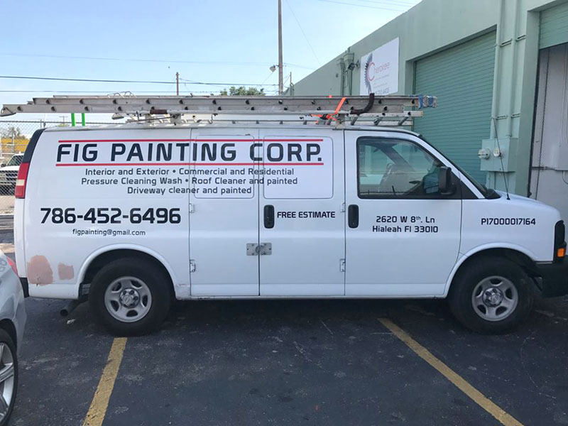 Van Vinyl Cut, Commercial Wrap miami, Commercial Graphics