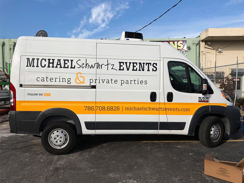 Van Vinyl Cut, Commercial Graphics, Michael Schwartz Events