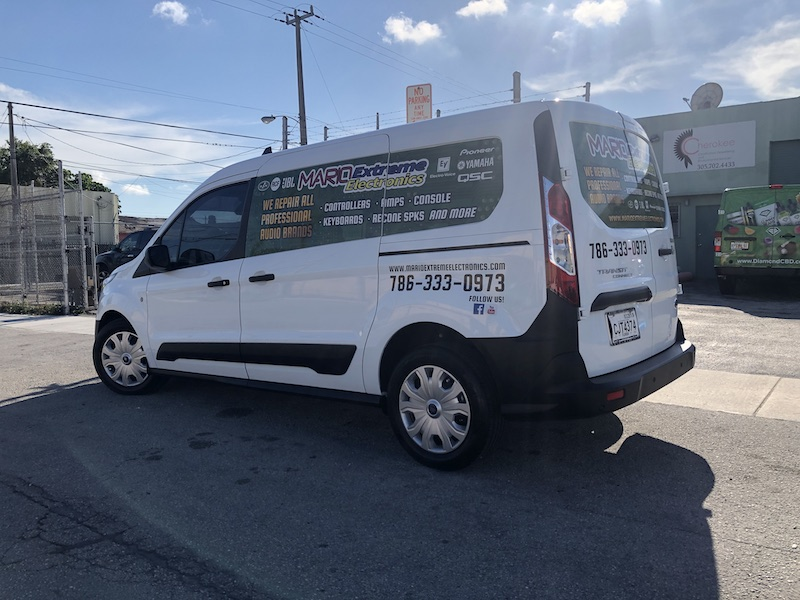 Ford transit Connect, cut vinyl, vehicle wrapping miami, Arlon SLX, Commercial vehicle wrap, fleet miami