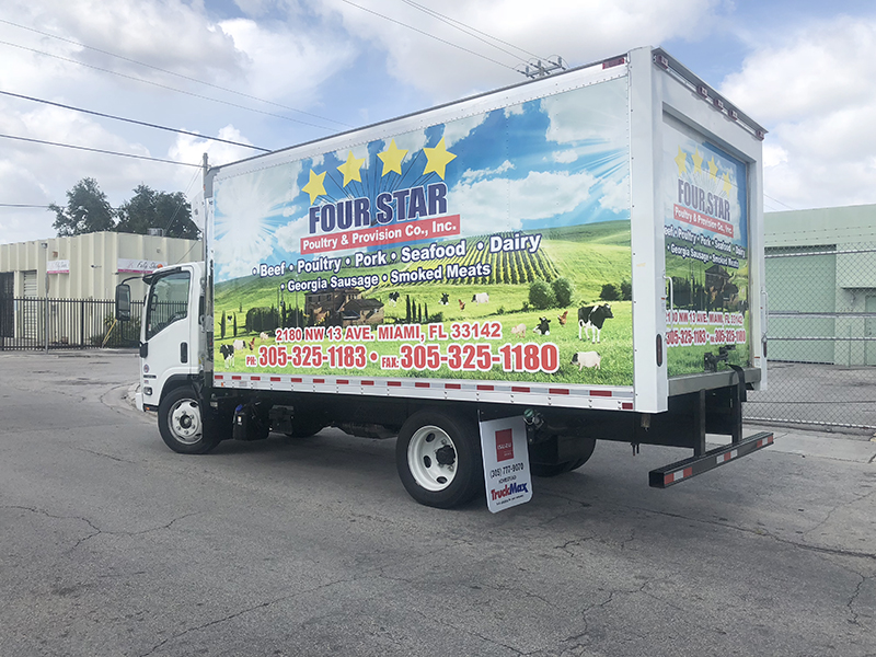Commercial & Fleet Vinyl Box Truck Wraps, commercial wraps miami