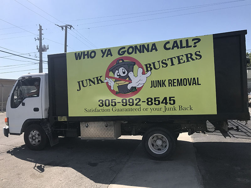 Junk Removal Truck Full Wrap, truck designs graphics, truck sign, truck graphics van sticker printing vehicle wrap miami