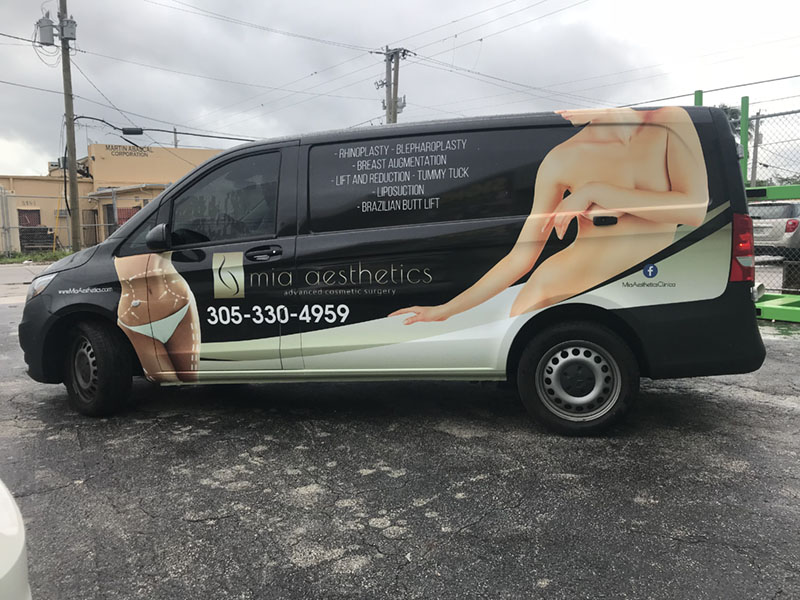 1e53750bb5 Mia Aesthetics Clinica Van Full Wrap