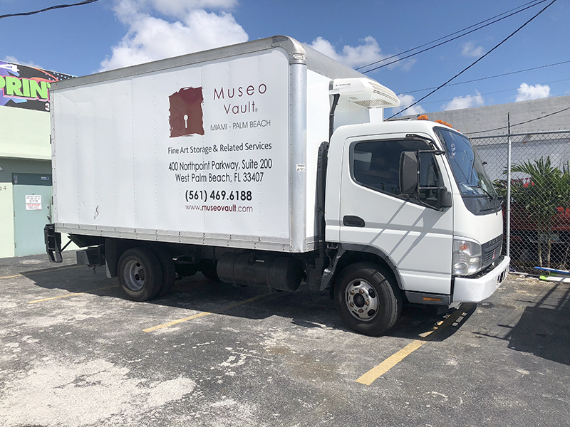 transit connect partial wrap, museo vault, commercial wraps miami, fleet wraps