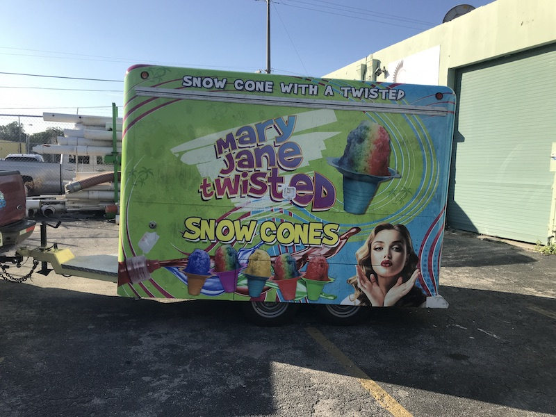 Trailer Full Color Wrap Miami, Car wraps graphics, vehicle decals