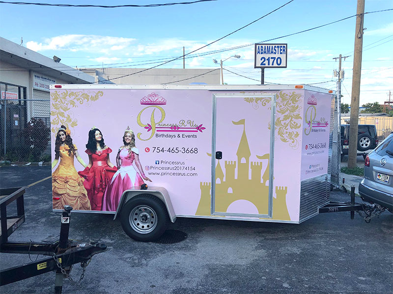 Trailer Full Wrap, Party Rental, Arlon car wrap, vehicle wrap, vehicle graphics,