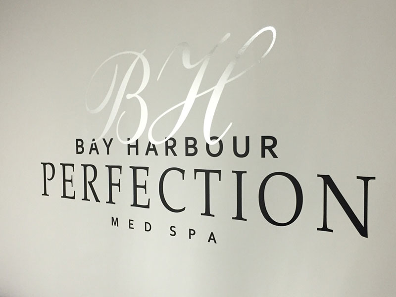 Bay Harbour Med Spa Vinyl letters