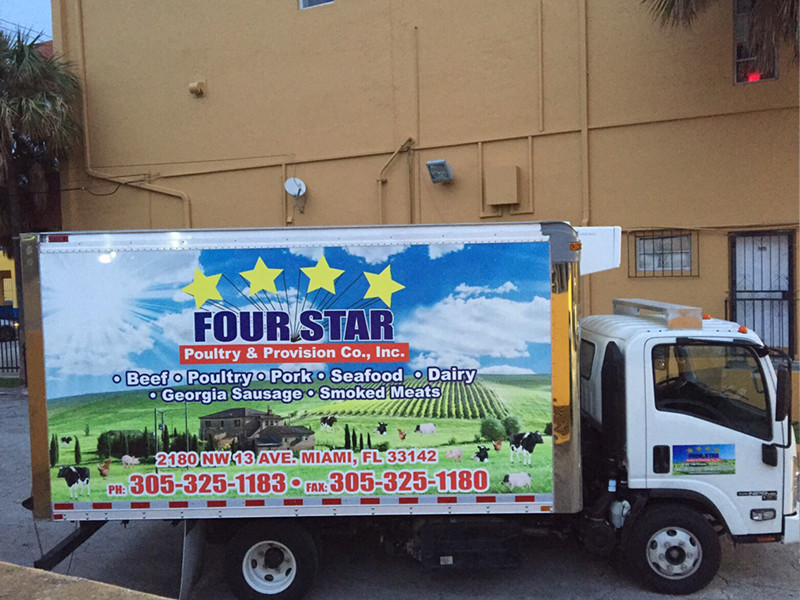 Four Star Poultry & Provision Co, Inc. Full Wrap Box Truck