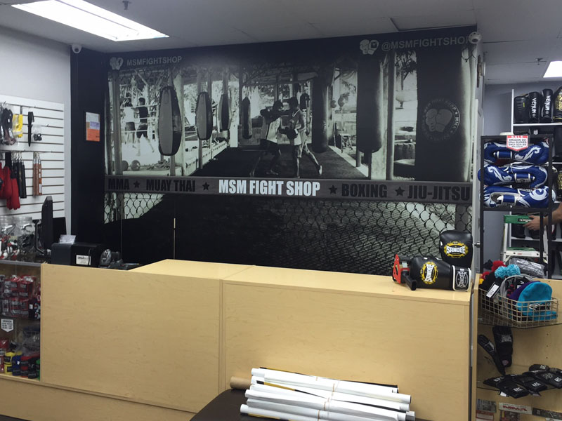 msm fight shop mural