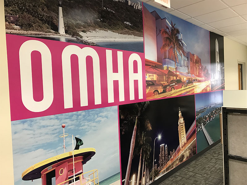 Wall Graphics for OMHA, Mural Wrap Miami