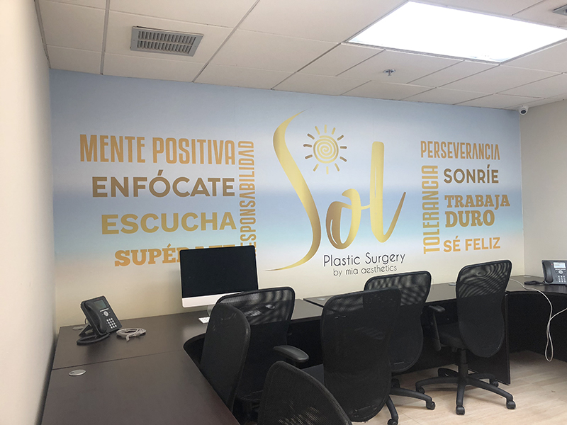 Sol Plastic Surgery Wall Wrap