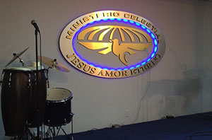 ministerio celestial jesus amor eterno3d signs with LED