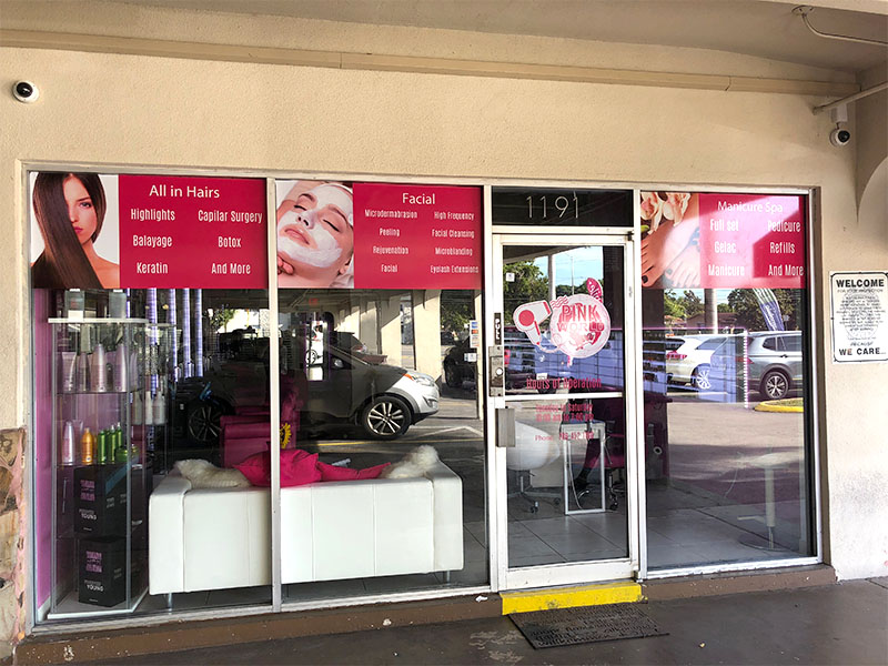 Beauty Salon StoreFront Graphics