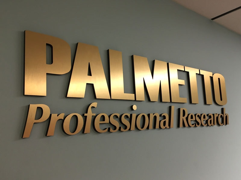 palmetto professional research 3d letters