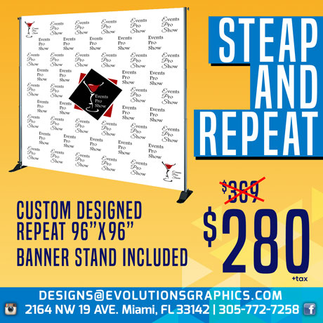 step and repeat $280