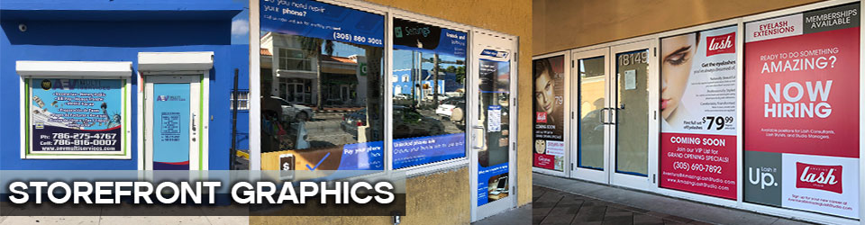 Storefront Graphics, Miami Window Graphics, Window Perforated, Window Decals