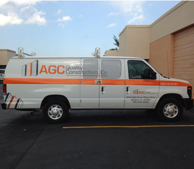 AGC Quality Construction, Miami vehicle graphic