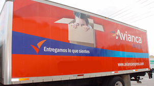 Avianca Express Full Color Truck