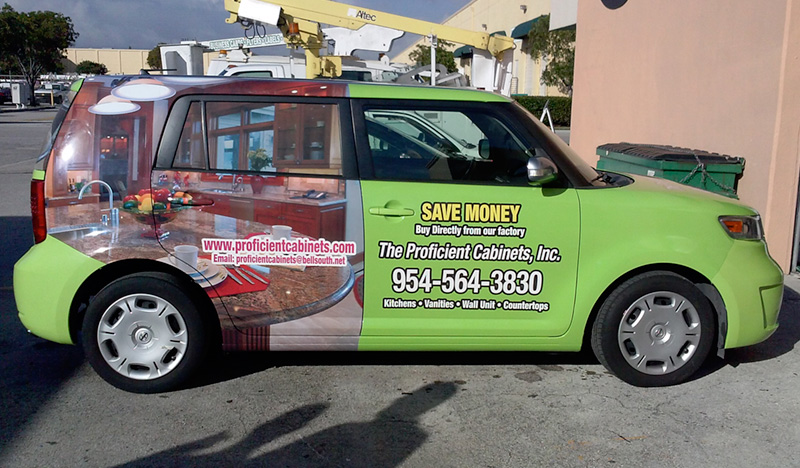 custom car wrap, Miami vehicle graphic