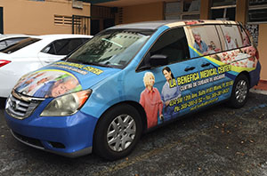 La Benefica Medical Center, miami Car Wrap, custom car wrap, Miami vehicle graphics, vinyl car wrap