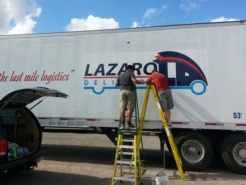 Lazaro Delivery -Truck lettering, custom car wrap, vehicle graphic Miami