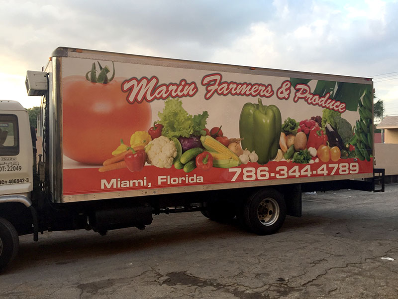 Car Wrap Miami,  Marin Farmers Produce