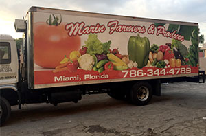 Marin farmers produce, Car Wrap Miami, custom car wrap, Miami vehicle graphics, vinyl car wrap