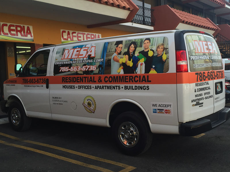 Mesa Cleaning Services Cargo Van Full Wrap