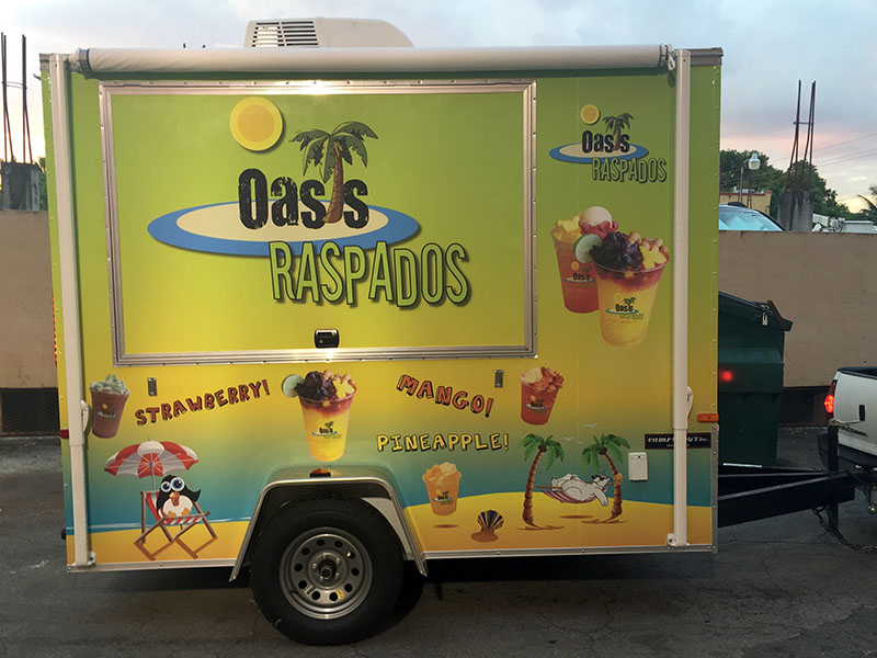 custom car wrap, Miami vehicle graphics, Oasis Raspados
